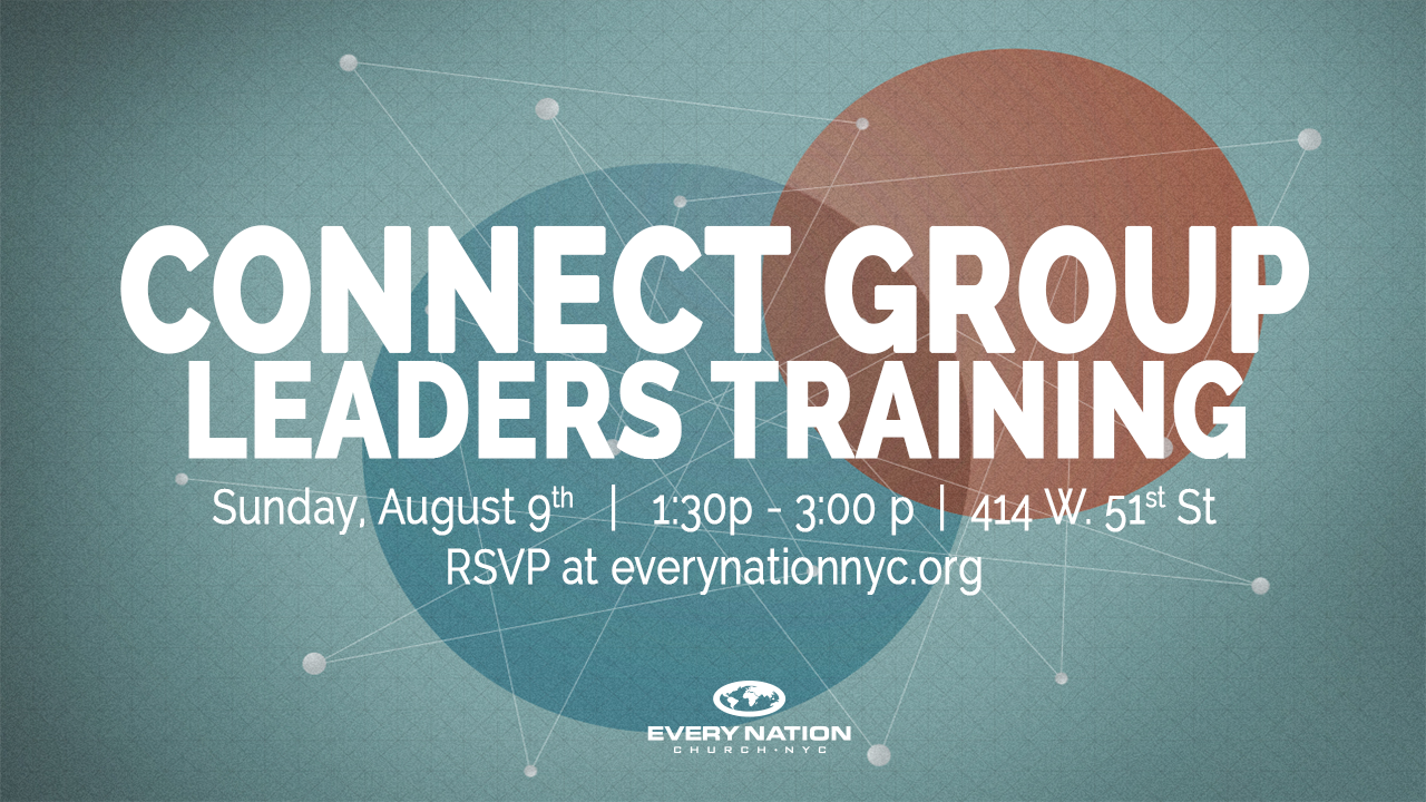 Connect Leaders Training Aug 9 2015