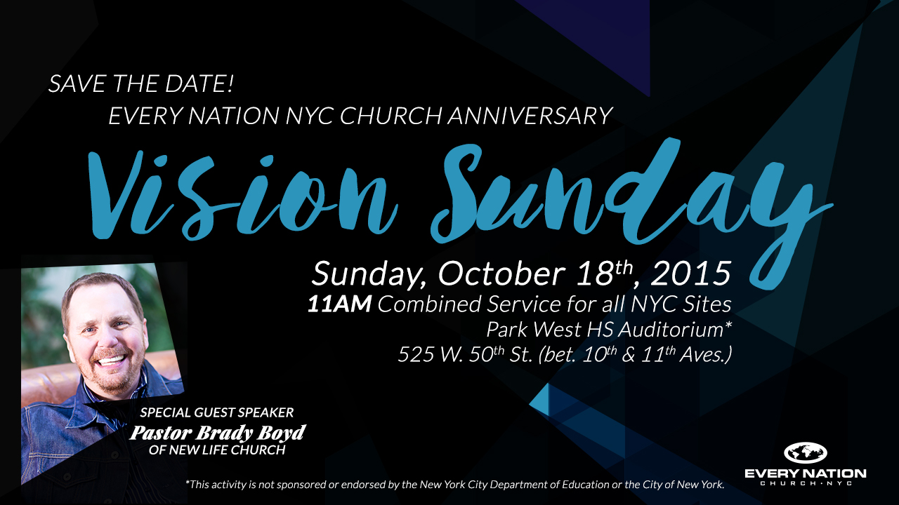 Every Nation NYC Church Anniversary Vision Sunday