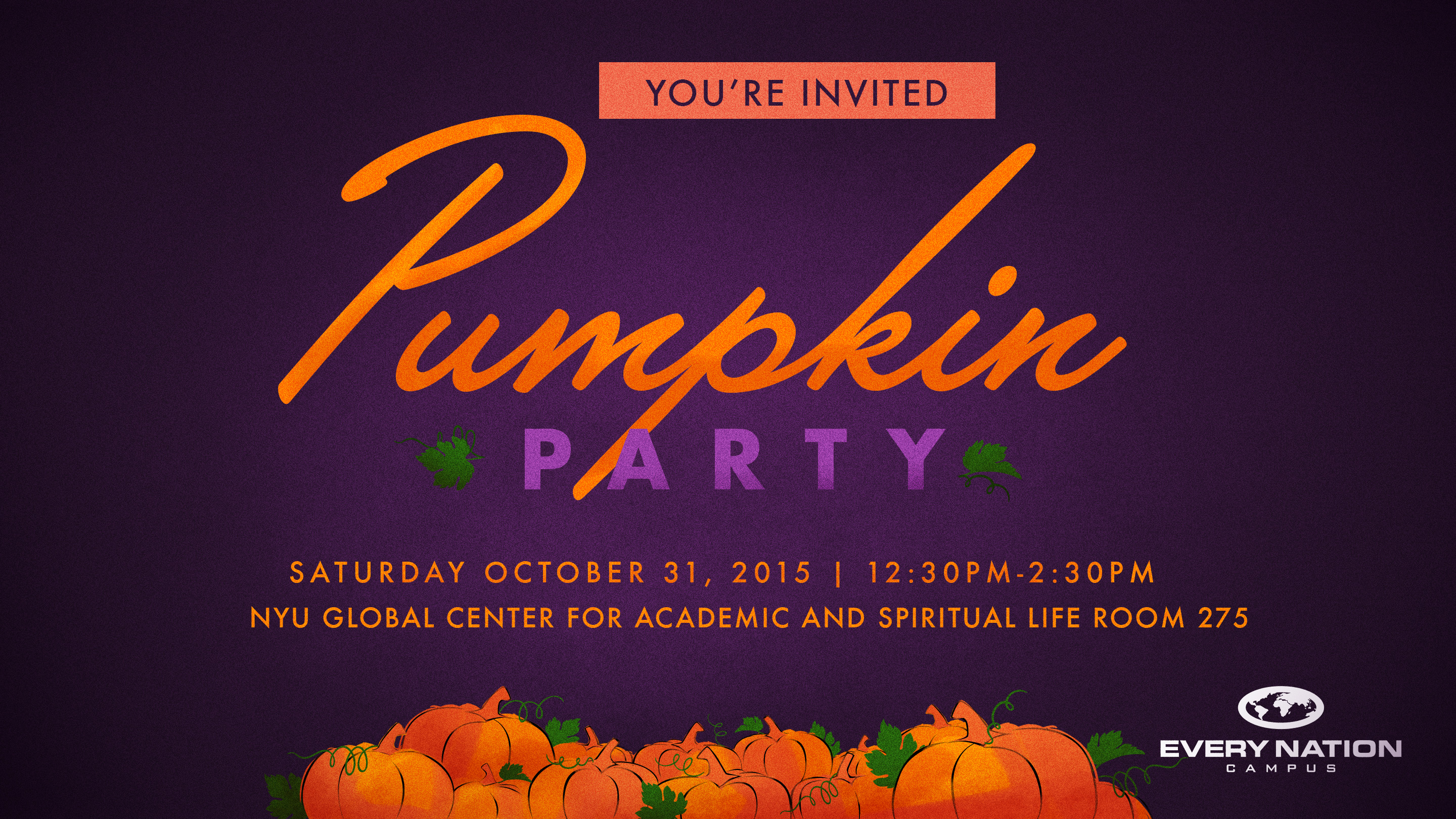 EN Campus Pumpkin Party