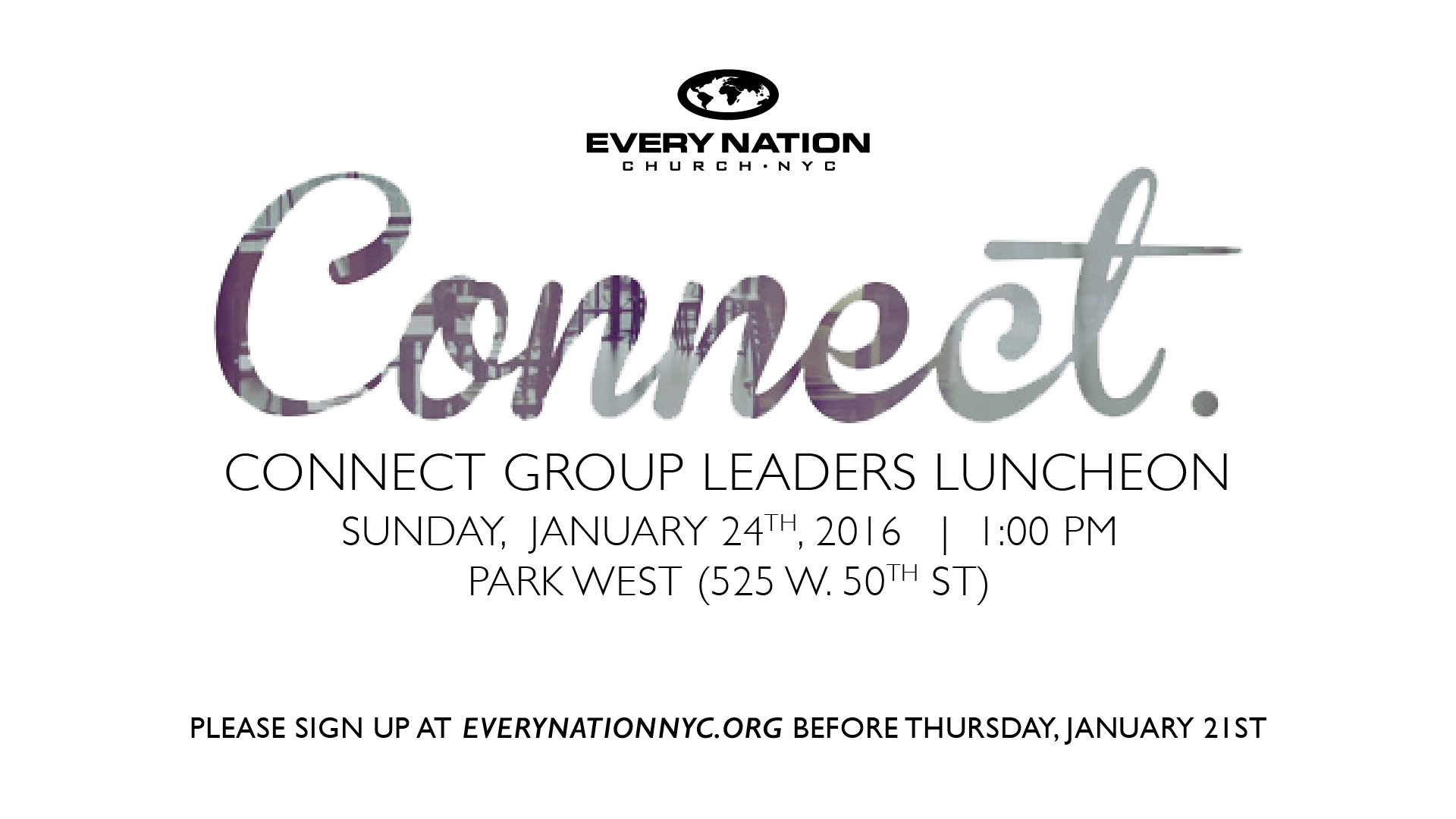 Connect Group Leaders Luncheon artwork