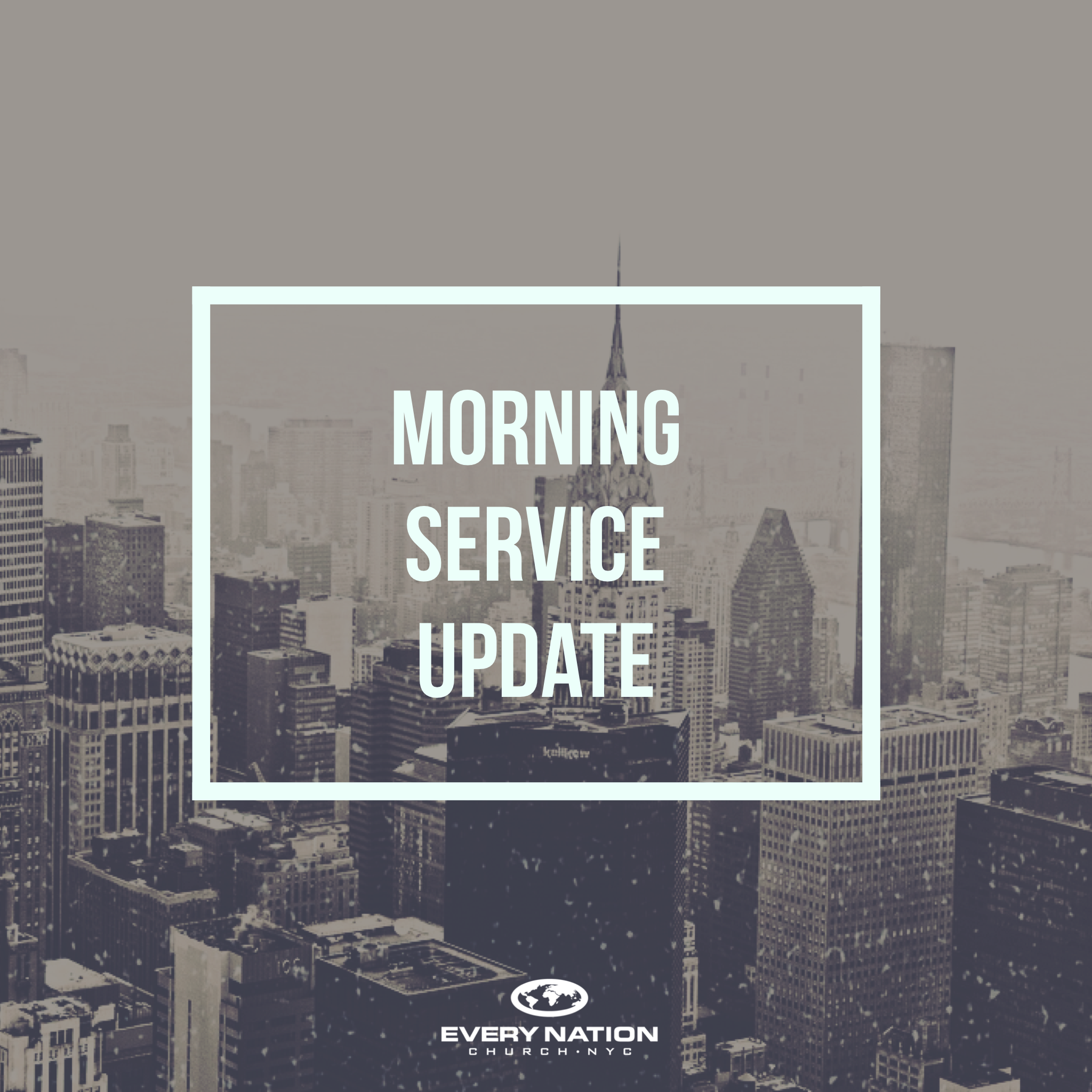 Morning Service Update Image
