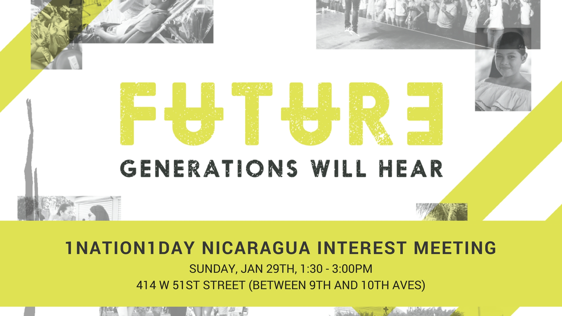 1Nation1Day Nicaragua Interest Meeting