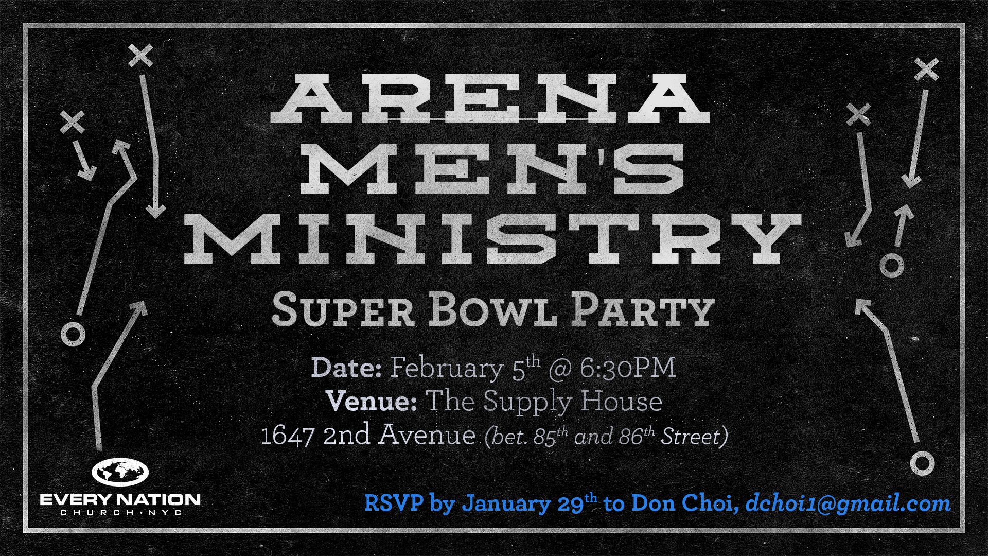 Arena Men's Ministry Super Bowl Party