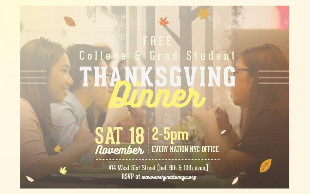 Free Campus Thanksgiving Dinner
